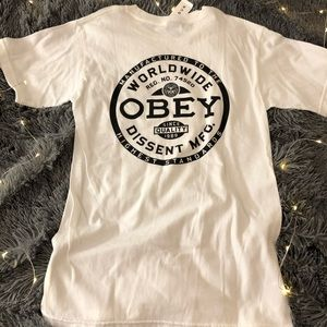 White obey shirt,, brand new never worn with tags